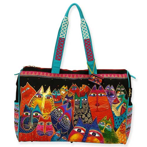 Laurel Burch Fantasticats Travel Tote Bag LB5231