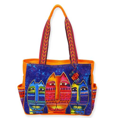 Laurel Burch Three Amigos Medium Tote Bag LB5262