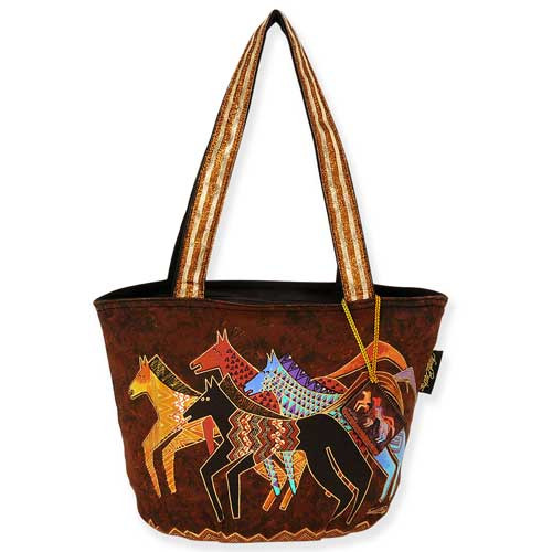 Laurel Burch Native Horses Medium Tote Bag LB5272