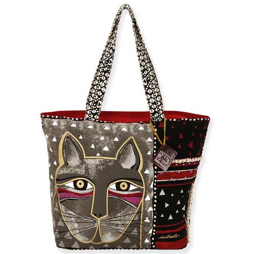 Laurel Burch Whiskered Cat Shoulder Tote Bag LB5310