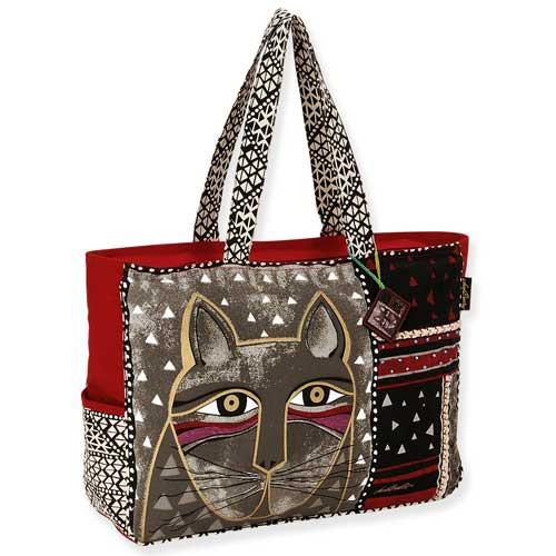 Laurel Burch Whiskered Cat Oversized Tote Bag LB5311