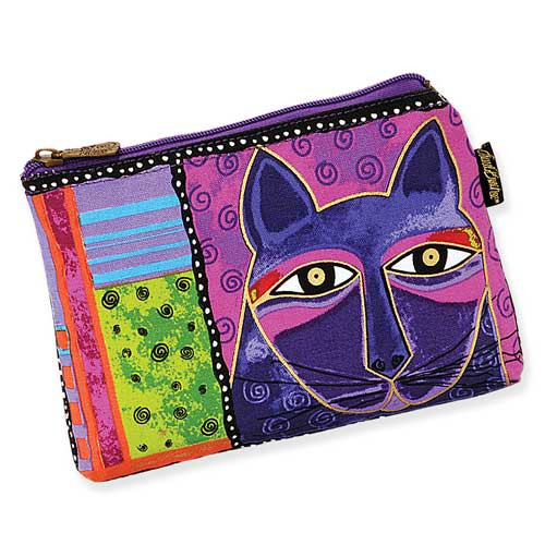 Laurel Burch Whiskered Cats Cosmetic Bags Purple LB5321B