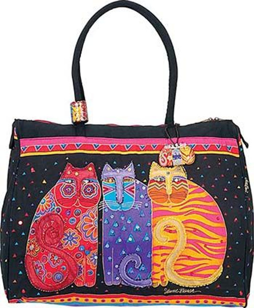 "Laurel Burch ""Feline Friends"" Overnighter Travel Tote - LB773"