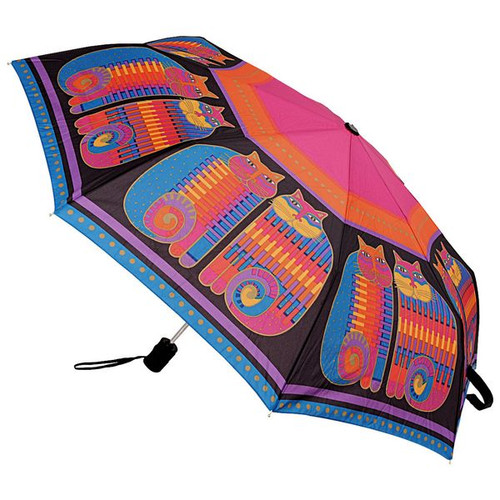 Laurel Burch Compact Umbrella Rainbow Cat Cousins - LBU001A