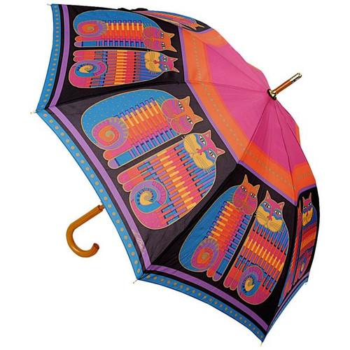 Laurel Burch Stick Umbrella Rainbow Cat Cousins - LBU001S