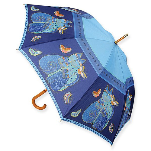 Laurel Burch Stick Umbrella Indigo Cats - LBU002S