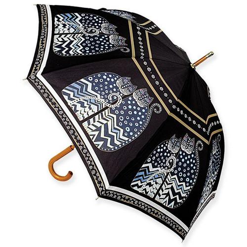 Laurel Burch Stick Umbrella Polka Dot Cats - LBU003S