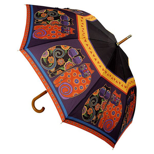 Laurel Burch Stick Umbrella Feline Family Portrait - LBU004S