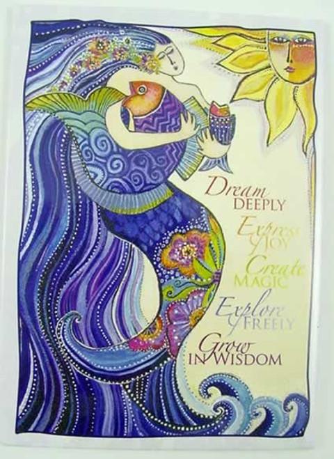 "Laurel Burch Magnet Mermaid ""Dream Deeply"" - MAG31260"