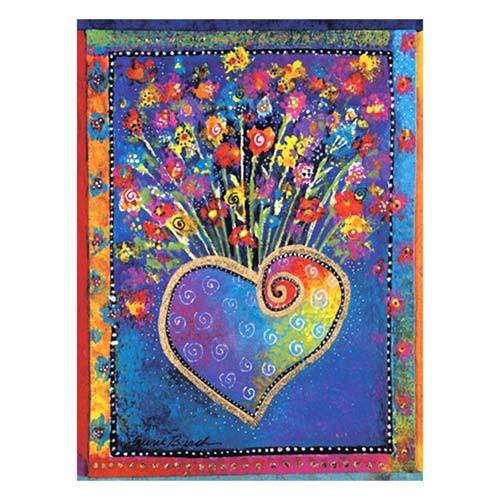 "Laurel Burch Magnet ""Blossoming Heart"" - MAG67065"