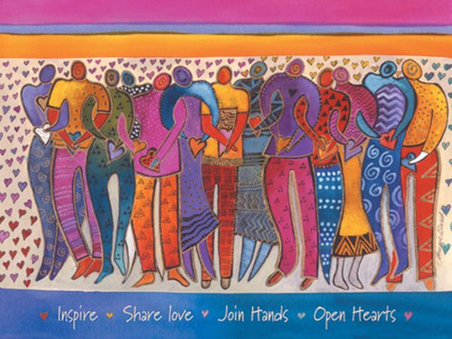 """Laurel Burch Magnet """"The Heart of Human Being"""" - MGR31302"""