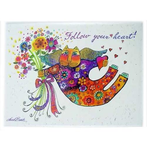 """Laurel Burch Magnet Cat """"Follow your Heart"""" - MRG31261"""