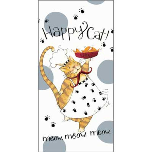 Happy Cat Flour Sack Cotton Towel R2633