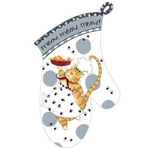 Happy Cat Oven Mitt R2635
