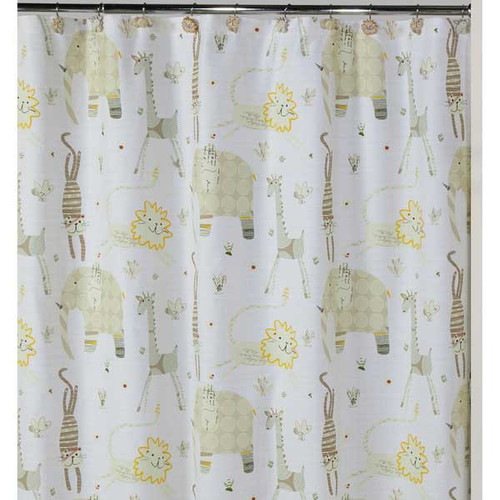 Animal Crackers 100% Cotton Shower Curtain S1022NAT