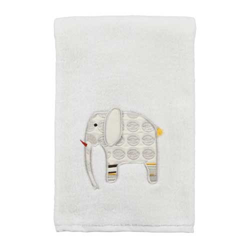 Embroidered 100% Cotton Animal Crackers Bath Towel TE1022BNAT