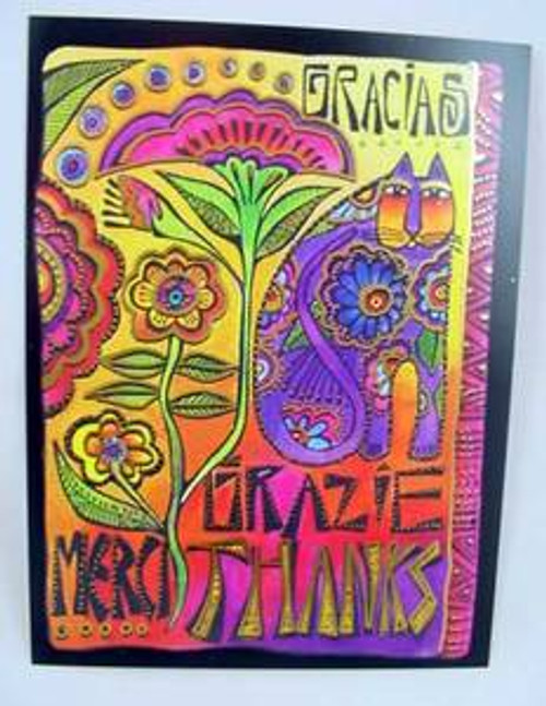 "Laurel Burch Card Thank You - ""A World of Thanks - TKG14510"
