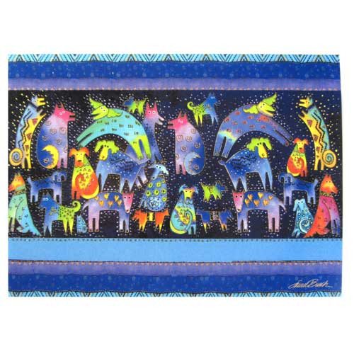 "Laurel Burch Birthday Card ""Mythical Dogs"" - BDG11662"