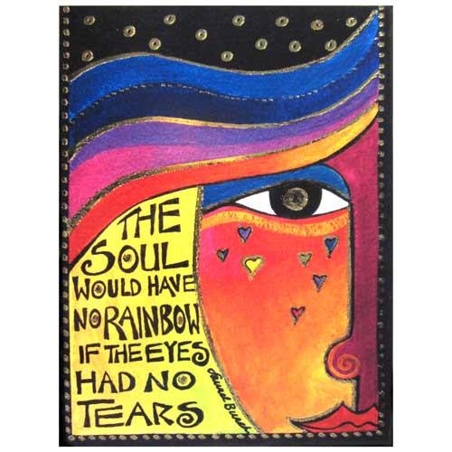 "Laurel Burch Thinking of You Card ""Soul Tears"" ECG11665"