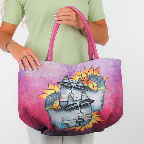 """Feline Sunshine"" Cat Lovers Shoulder Tote - SS248A"