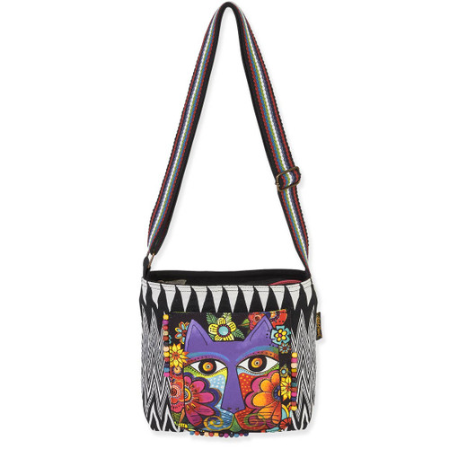 Laurel Burch Blossoming Feline Crossbody Tote LB5461