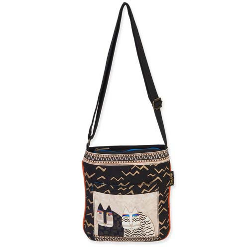 Laurel Burch Wild Cats Crossbody Tote Bag LB5342