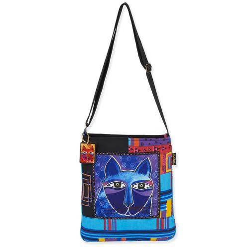 Laurel Burch Whiskered Cats Crossbody Tote LB5352