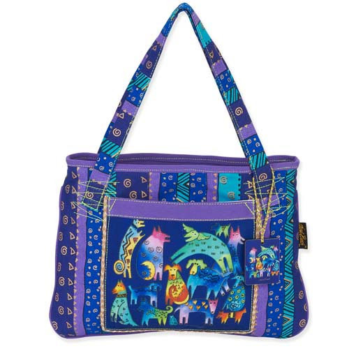 Laurel Burch Mythical Dogs Medium Tote LB5391