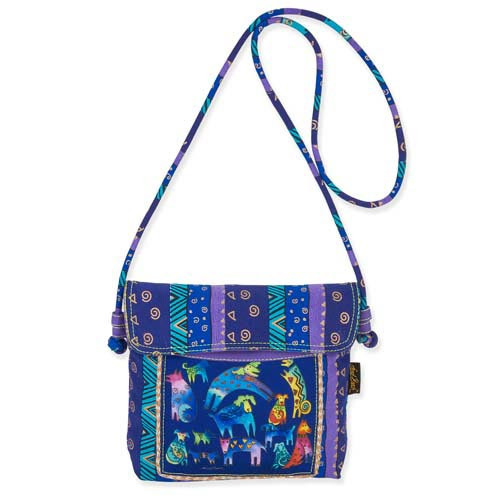 Laurel Burch Mythical Dogs Crossbody Tote LB5393