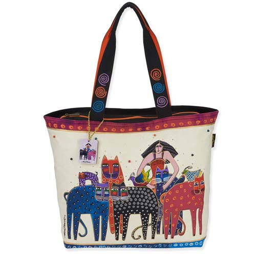 Laurel Burch Eta Friends Oversized Shopper Shoulder Tote LB5480