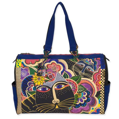Laurel Burch Carlotta's Cats Overnighter Travel Bag LB5491