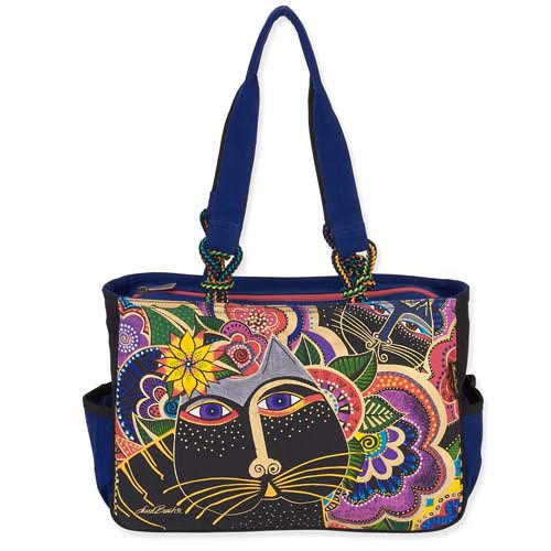 Laurel Burch Carlotta's Cats Medium Tote LB5493