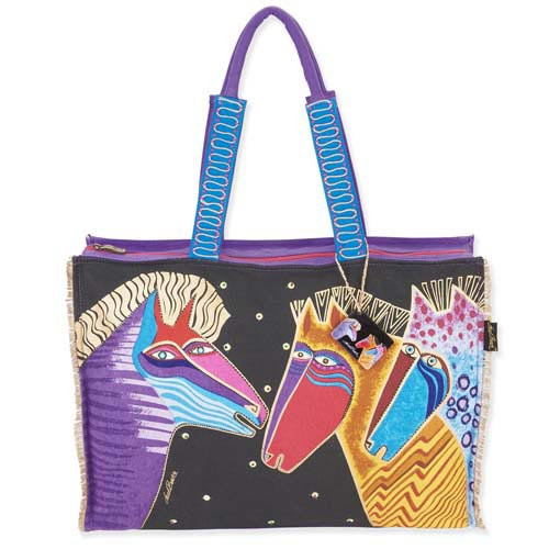 Laurel Burch Talking Horses Oversized Shopper Tote LB5531