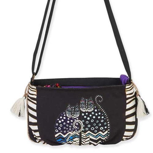 Laurel Burch Feline Crossbody Bag Stripe LB5552C