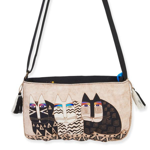 Laurel Burch Feline Crossbody Bag Ivory LB5552D