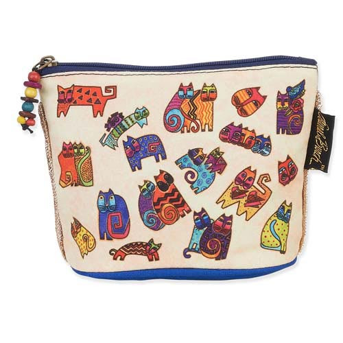 Laurel Burch Feline Minis Clutch Cosmetic Pouch Floating Cats LB5550A