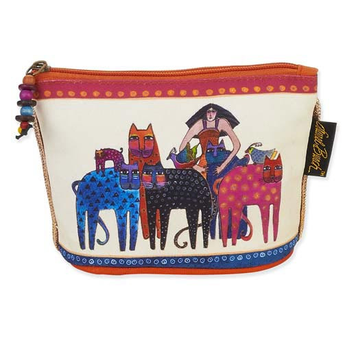 Laurel Burch Feline Minis Cosmetic Clutch Pouch Friends Cat Bag LB5550C