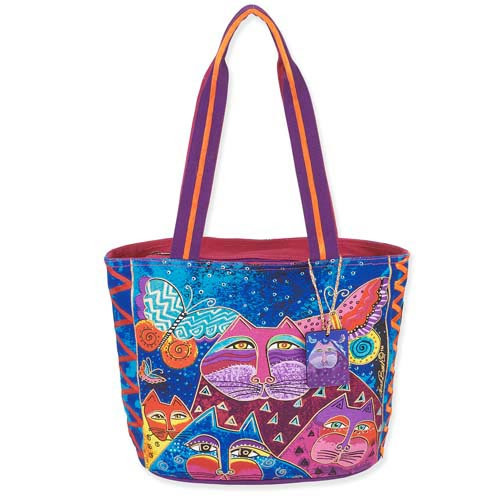 Laurel Burch Cats with Butterflies Medium Bag LB5503