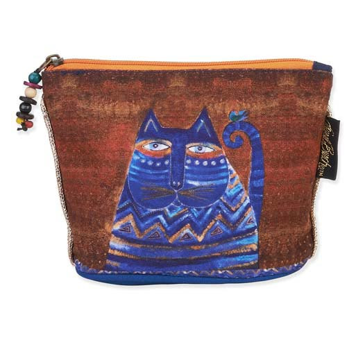 Laurel Burch Feline Minis Cosmetic Clutch Pouch Blue Cat LB5550F