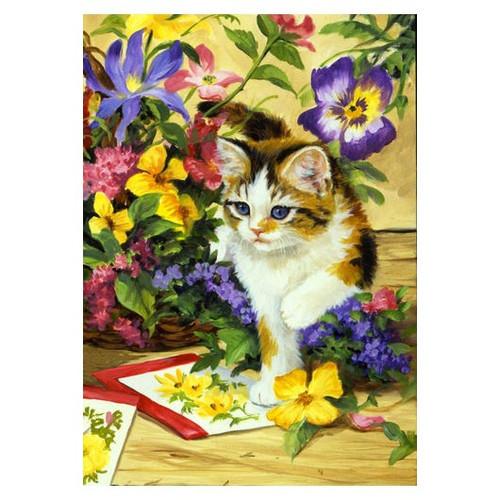 """Cat Garden Flag """"Flower Kitty"""" - 112100"""