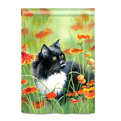 Flower Meadow Cat House Flag 95941