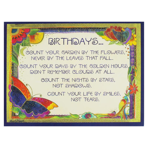 "Laurel Burch Birthday Card ""Garden"" BDG11970"