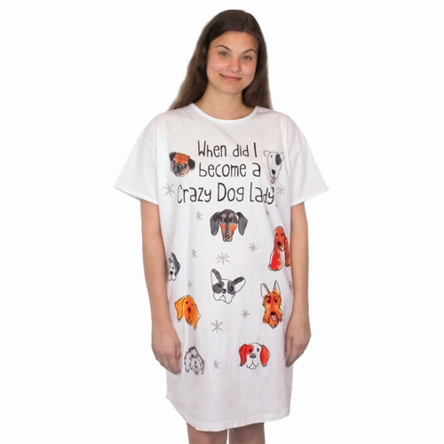 When Did I Become a Crazy Dog Lady Theme Sleep Shirt Pajamas - 333OT