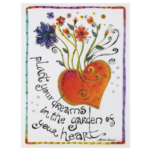 """Laurel Burch Small Birthday Card - """"Plant Your Dreams"""" - BDN95481"""