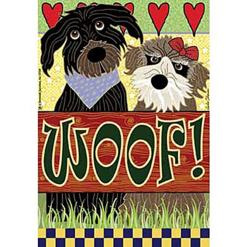 Love Your Dog WOOF House Size Flag JFL069L