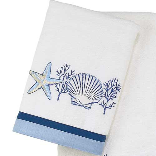"Sea Shells ""Nassau White"" Hand Towel 35422"