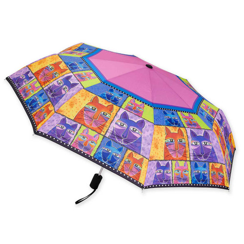 Laurel Burch Compact Folding Umbrella Whisker Cats LBU008A
