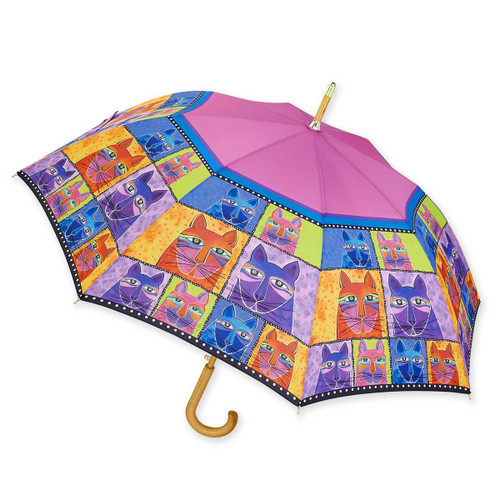 Laurel Burch Stick Umbrella Whisker Cats LBU008S