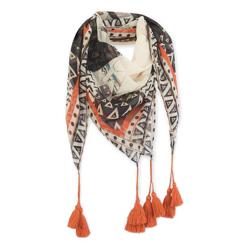 Laurel Burch Wild Cats Artistic Square Scarf LBSQ303