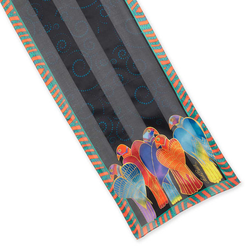 Laurel Burch Brazilian Birds Silk Scarf LBS205